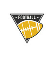 american football logo emblem usa sports badge in vector image
