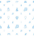 anniversary icons pattern seamless white vector image vector image