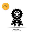 award ribbon icon on white background vector image vector image