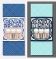 banners for dental implant vector image vector image