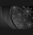 black abstract snowflakes christmas wavy vector image vector image