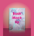 book mockup template Ready to place your vector image vector image