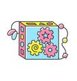 busy cube rgb color icon vector image