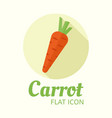 carrot isolated flat style round icon vector image vector image