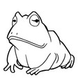 Cartoon cute frog coloring page