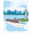 cartoon new york background vector image vector image