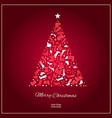 christmas card with shoes vector image