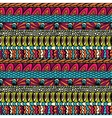 Colorful ethnicity ornament seamless pattern vector image