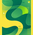 colorful wave graphic element vector image