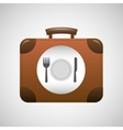 concept travel restaurant suitcase vintagedesign vector image