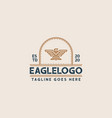 creative professional eagle logo design eagle vector image vector image