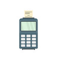 credit card payment terminal icon flat style vector image vector image
