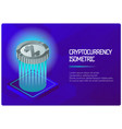 cryptocurrency color isometric banner vector image