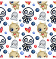 cute cartoon magic halloween seamless pattern vector image