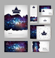 document template with polygonal geometric space vector image