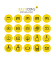 easy icons 05c briefcases vector image