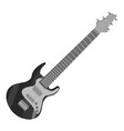 electric guitar icon gray monochrome style vector image vector image