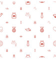 emblem icons pattern seamless white background vector image vector image
