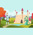 fairy tale background outdoor fantasy landscape vector image