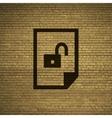 File unlocked icon symbol Flat modern web design vector image