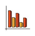 financial report chart vector image vector image