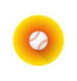 flat color baseball ball vector image vector image