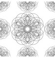 flower mandala linear graphics seamless pattern vector image vector image