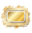 gold frame beautiful golden glitter design vector image vector image