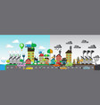 green and polluted city vector image vector image