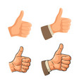 hand showing symbol like making thumb up gesture vector image vector image