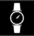 hand watch the white color icon vector image