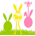 happy easter funny eggs card vector image