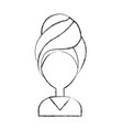 head woman with towell vector image vector image