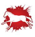 horse racing running cartoon graphic vector image vector image