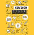 house repair tools hammer screwdriver pliers vector image vector image