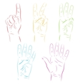 Human hands make numbers vector image vector image
