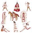images american indians in home vector image vector image