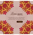 Invitation template vintage flowers lace ornament vector image vector image
