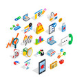 it engineering icons set isometric style vector image vector image