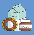 kawaii food icon image vector image