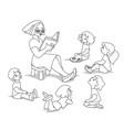 kids listening sw vector image vector image