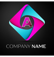 Letter A logo symbol in the colorful rhombus vector image vector image