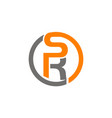 letter sr vector image vector image