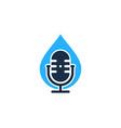 liquid podcast logo icon design vector image vector image