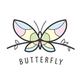 logo butterfly perched on a branch vector image vector image