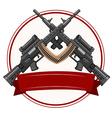Logo design with fireguns vector image