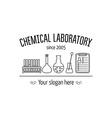 Logo for the chemical medical research vector image vector image