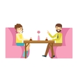 Man And Woman On Romantic Date Smiling Person vector image vector image