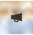 megaphone icon on blurred background vector image