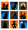 Misterious house in the dark night Halloween vector image vector image